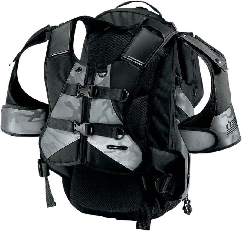 ICON Squad II Pack Motorcycle Backpack (Black)