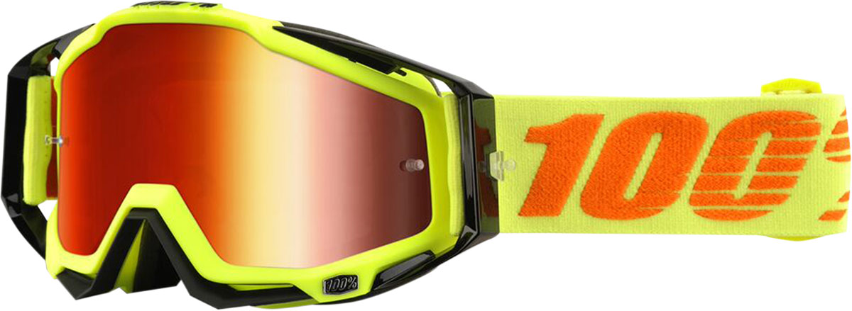 100% Racecraft Goggles w/ Mirror Lens