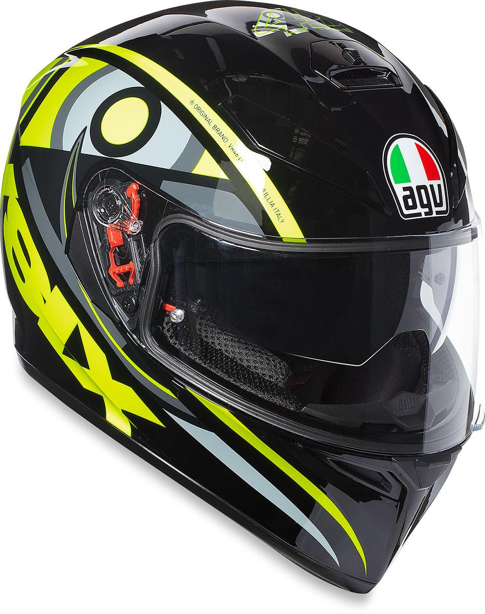 39046e79 AGV K3 SV Full-Face Motorcycle Helmet w/ Sun Visor (Soluna 46 ...