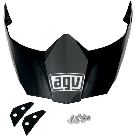 AGV Replacement Visor/Peak for AX-8 DS Evo Helmet (Black)