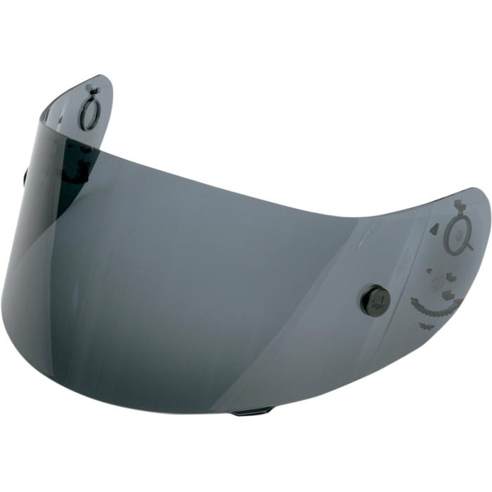 AGV Race Shield for Ti-Tech Helmets & Other Models (Dark Smoke Anti-Fog)