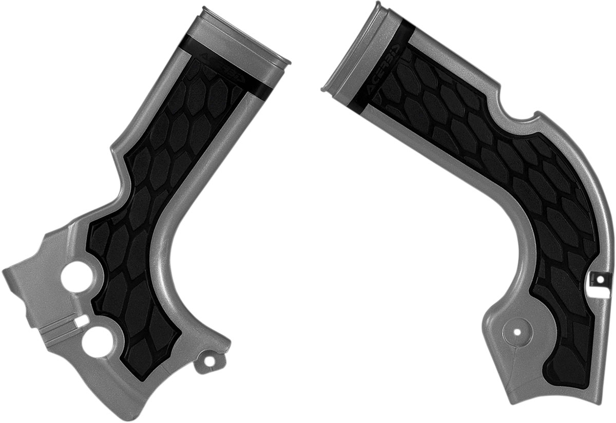 ACERBIS X-Grip Frame Guards (Silver/Black)