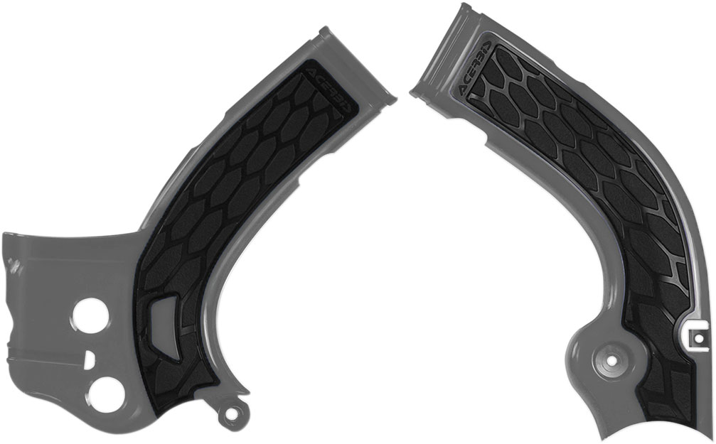ACERBIS X-Grip Frame Guards (Silver/Black)