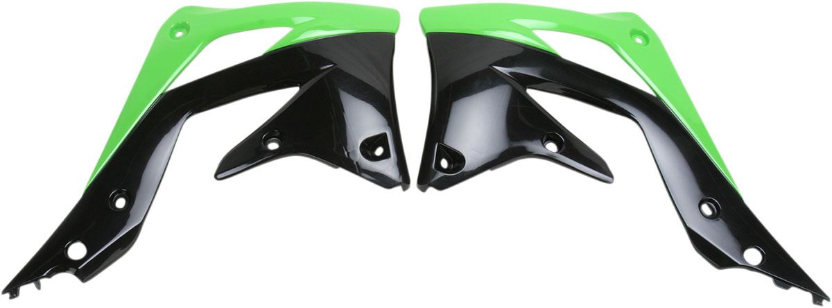 ACERBIS Radiator Shrouds/Covers (Green/Black)