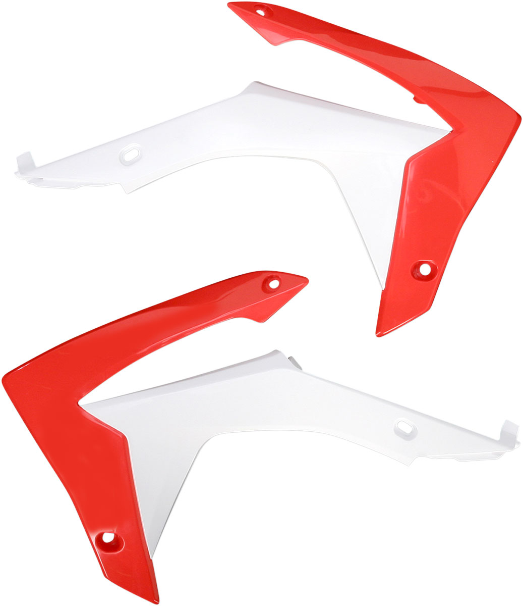 ACERBIS Radiator Shrouds/Covers (Red/White)