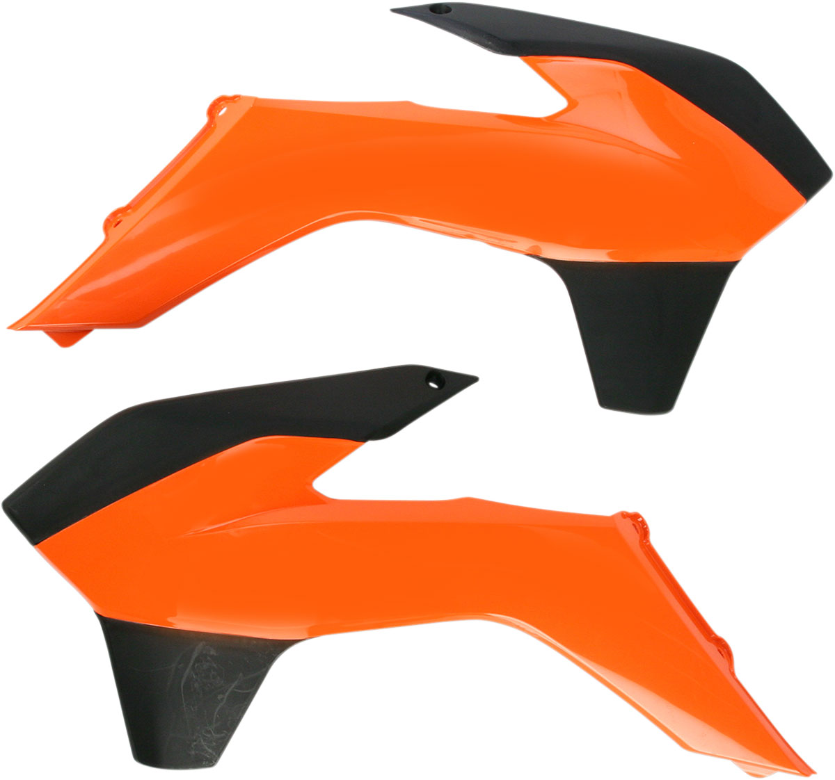 ACERBIS Radiator Shrouds/Covers (Orange/Black)