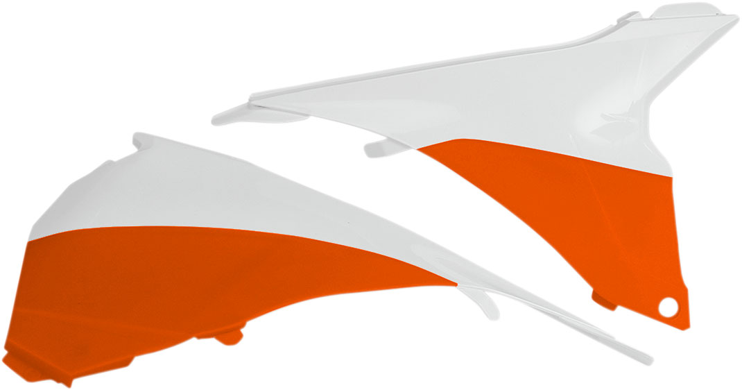 ACERBIS Air Box Cover (White/Orange)