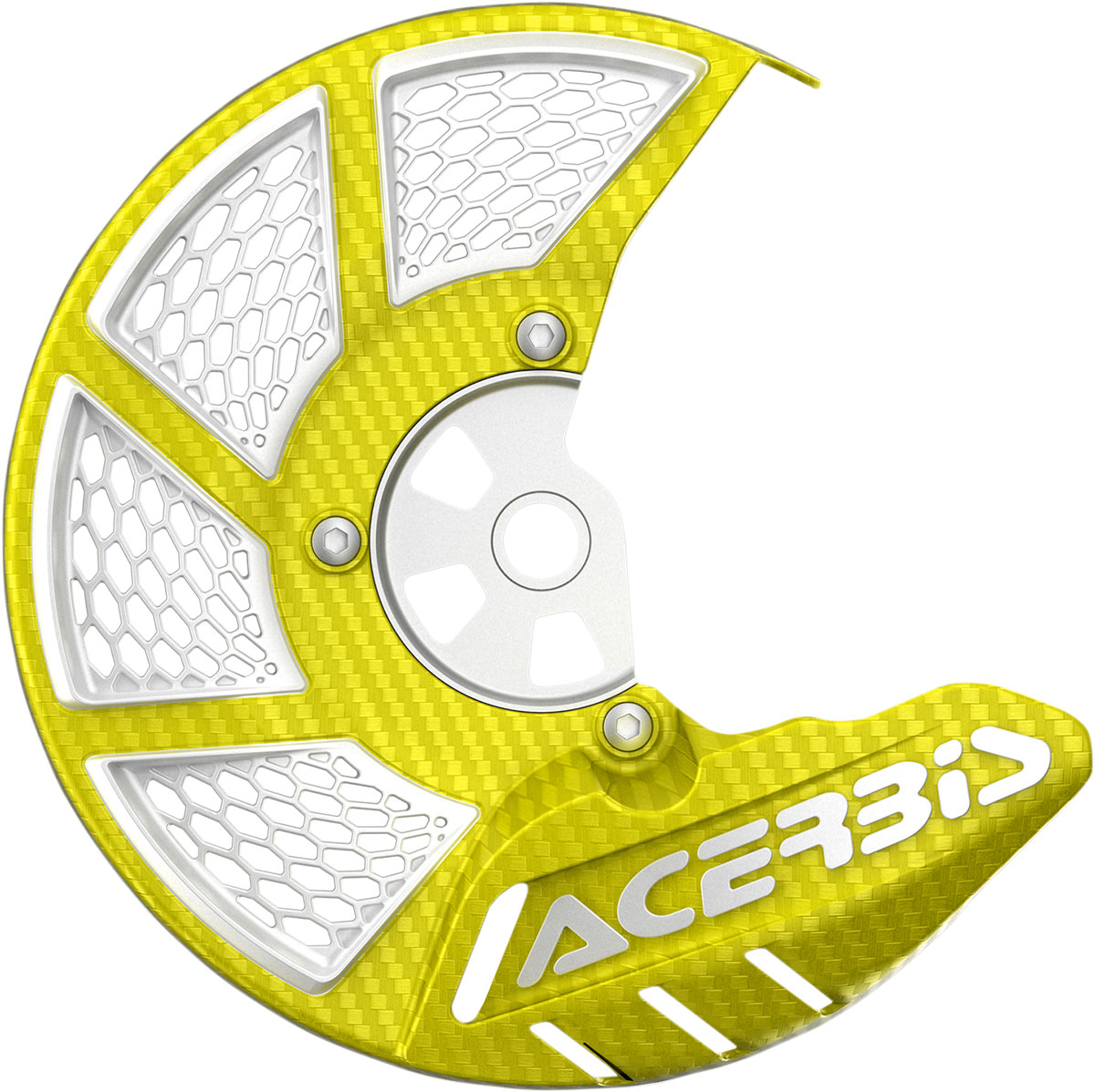 ACERBIS X-Brake Vented Front Disc Cover (Yellow/White)
