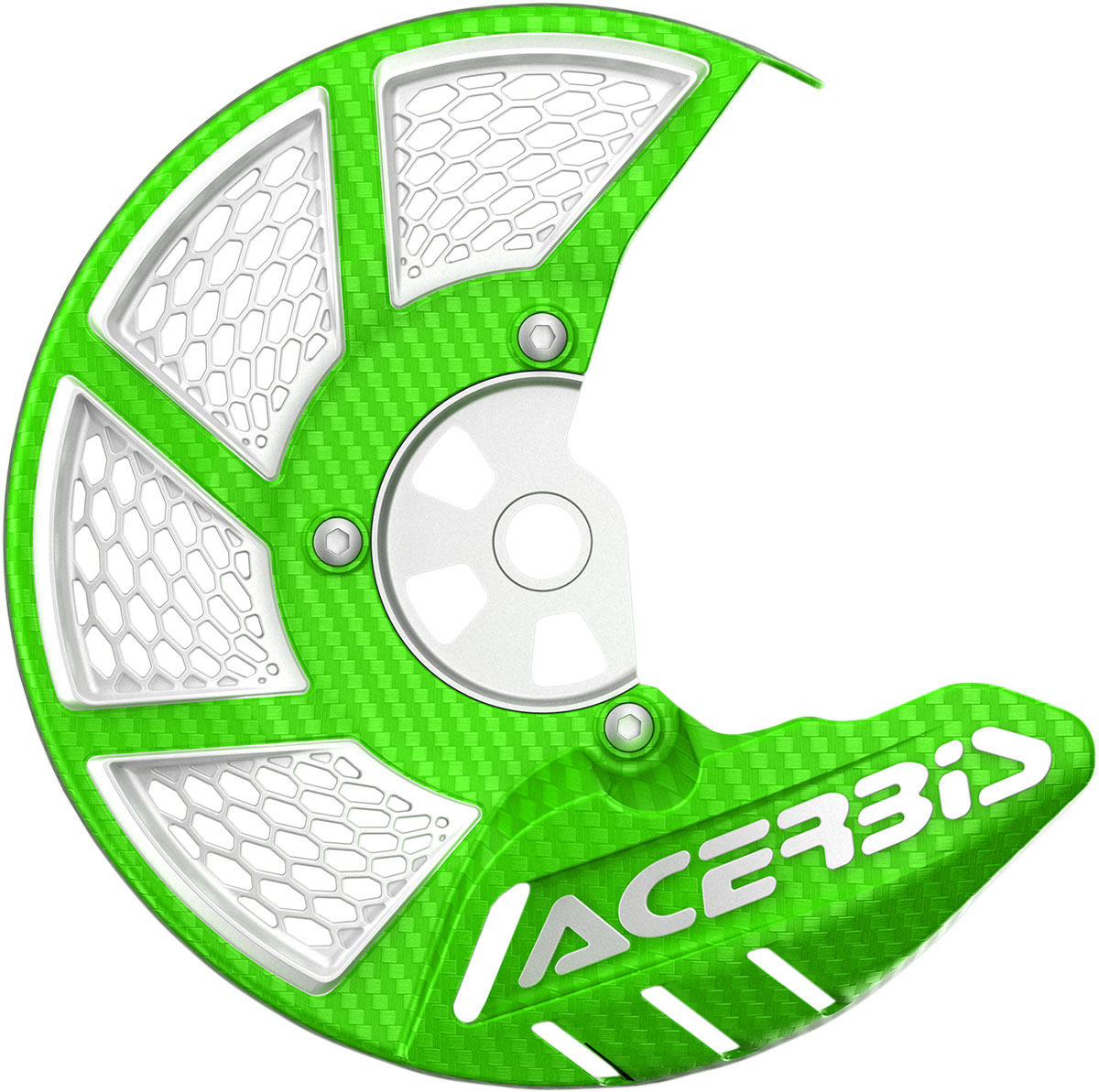 ACERBIS X-Brake Vented Front Disc Cover (Green/White)