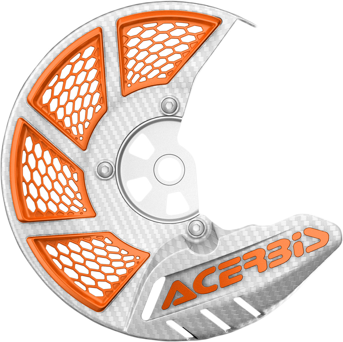ACERBIS X-Brake Vented Front Disc Cover (White/Orange)
