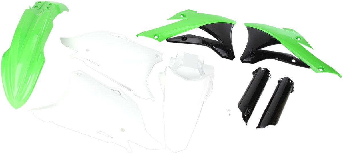 ACERBIS Full Plastic Kit (White/Green/Black OEM '14-'15)