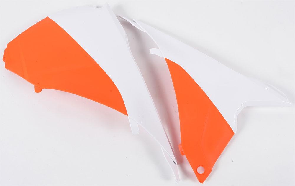 ACERBIS Air Box Cover (White/Orange)