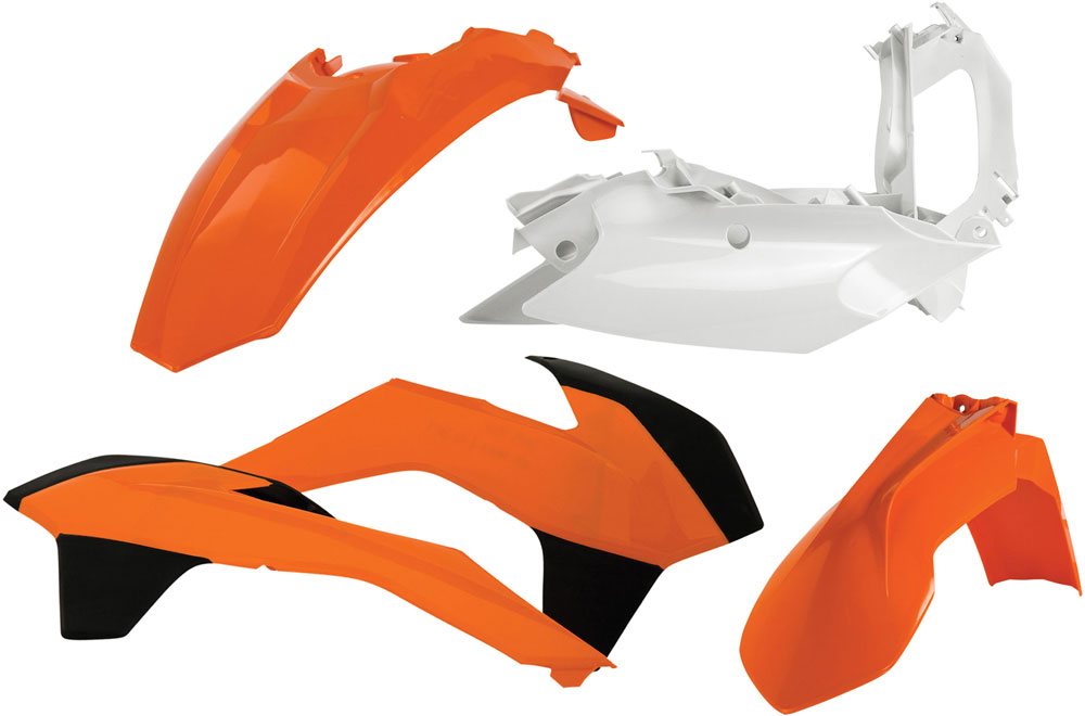 ACERBIS Standard Plastic Kit (Orange OEM '14)