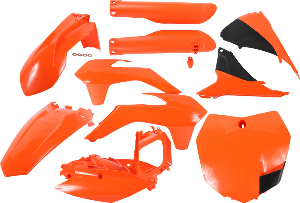 ACERBIS Full Plastic Kit (Orange/Black)