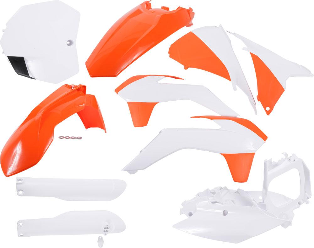 ACERBIS Full Plastic Kit (Orange/White OEM '15)