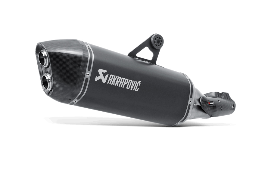 AKRAPOVIC Slip-On Exhaust System (Black) BMW R1200GS / Adventure (2014-2015)
