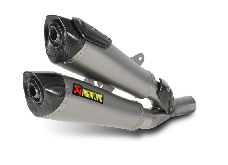 AKRAPOVIC Slip-On Exhaust System (Titanium) Ducati Diavel (2011-2014)