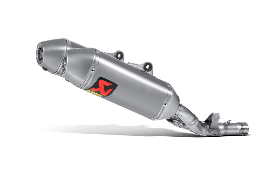 AKRAPOVIC Slip-On Exhaust System (Titanium) Honda CRF250R (2014-2015)
