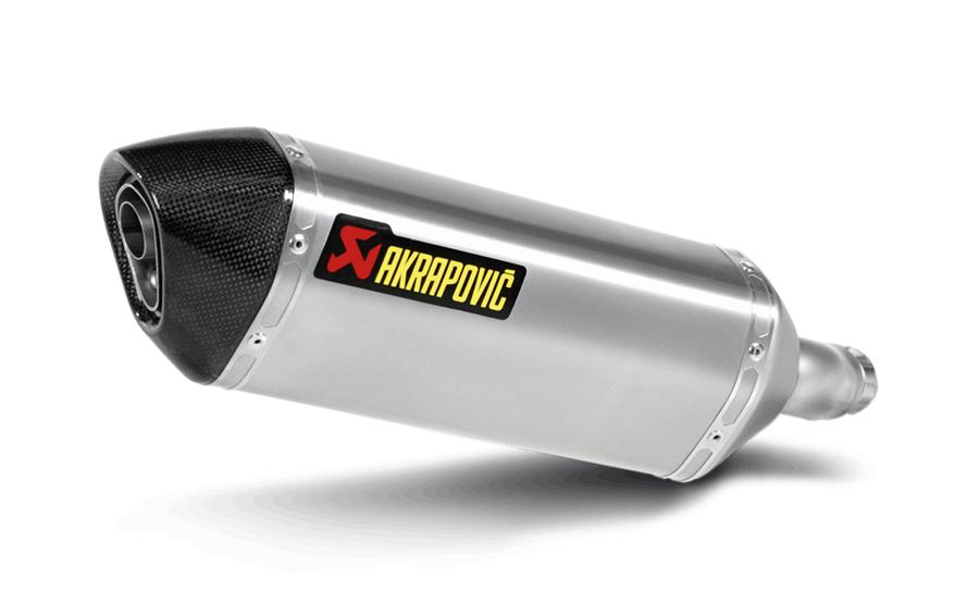 AKRAPOVIC Slip-On Exhaust System (Titanium) Kawasaki Ninja 250R 300 (2013-2015)
