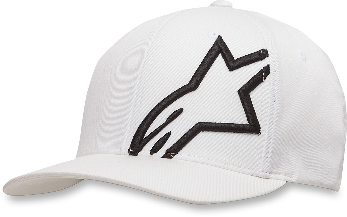 Alpinestars CORP SHIFT 2 Curve-bill Flex-Fit Hat/Cap (White/Black)