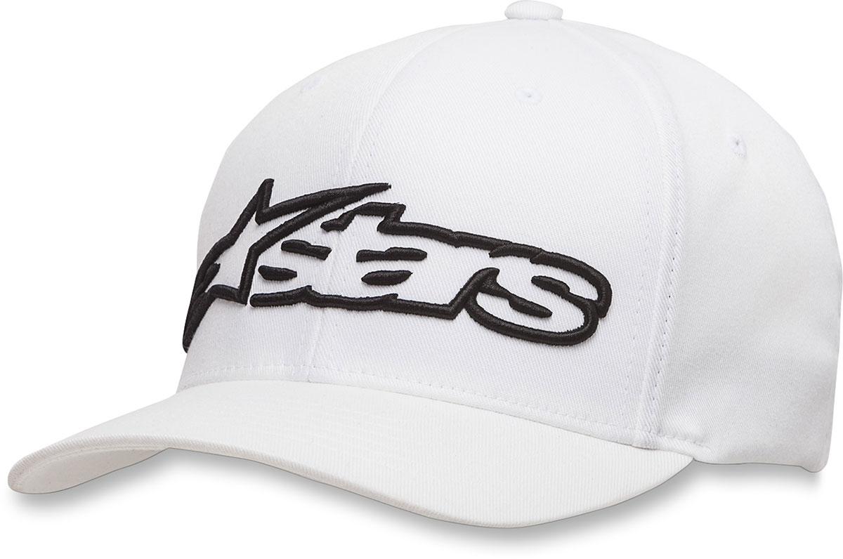 Alpinestars BLAZE Curve-bill Flex-Fit Hat/Cap (White/Black)