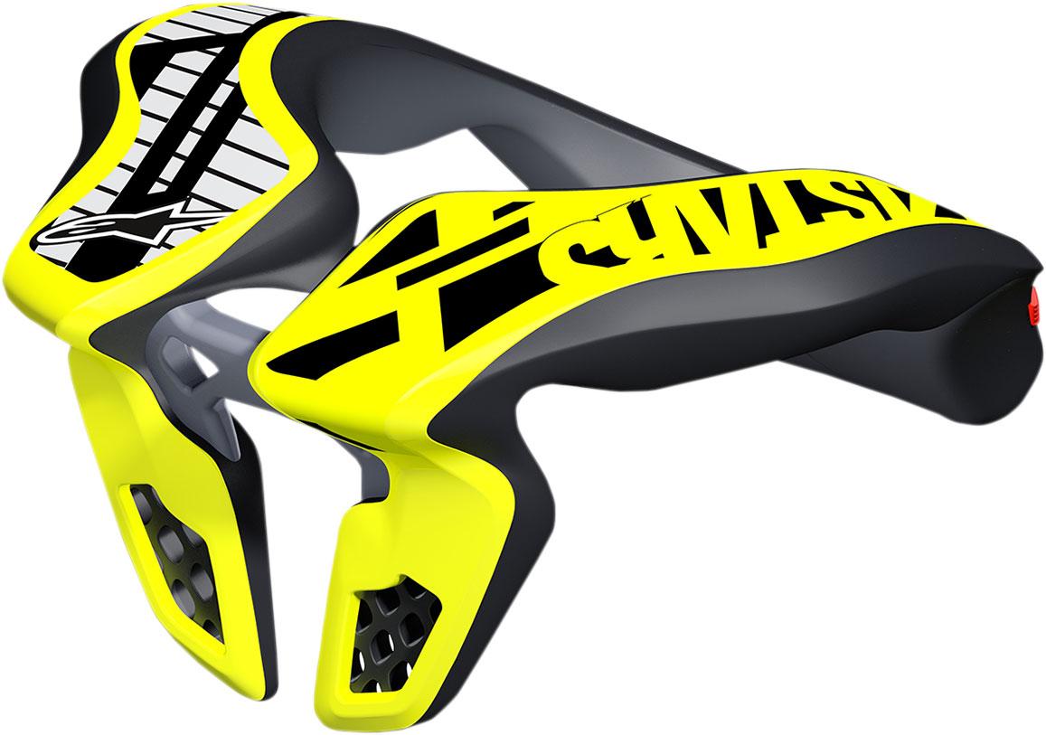 Black//Yellow Alpinestars MX//Motocross Kids Neck Support Youth