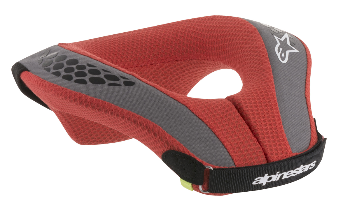 Alpinestars MX/Motocross SEQUENCE Kids Neck Roll (Black/Red)