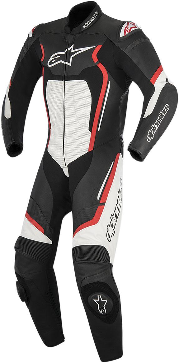 Alpinestars MOTEGI V2 1-Piece Leather Suit (Black White Red)