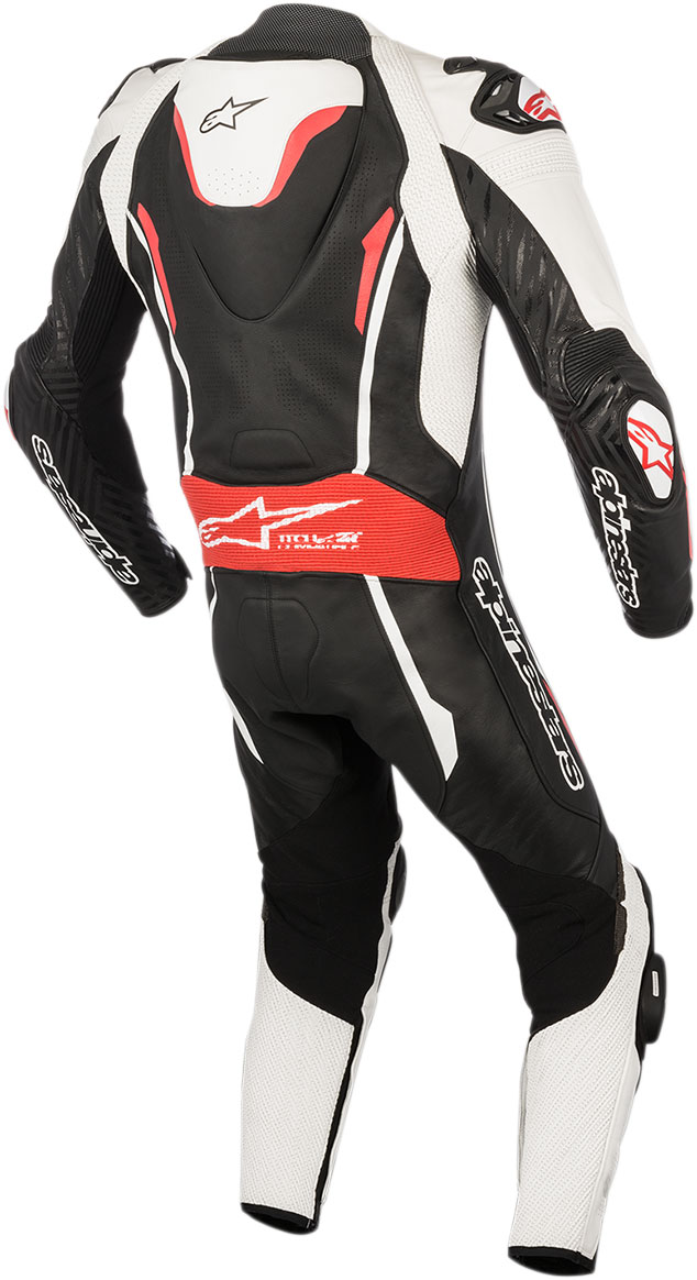 alpinestars gp tech v2 leather motorcycle riding suit tech air compatible black white red. Black Bedroom Furniture Sets. Home Design Ideas