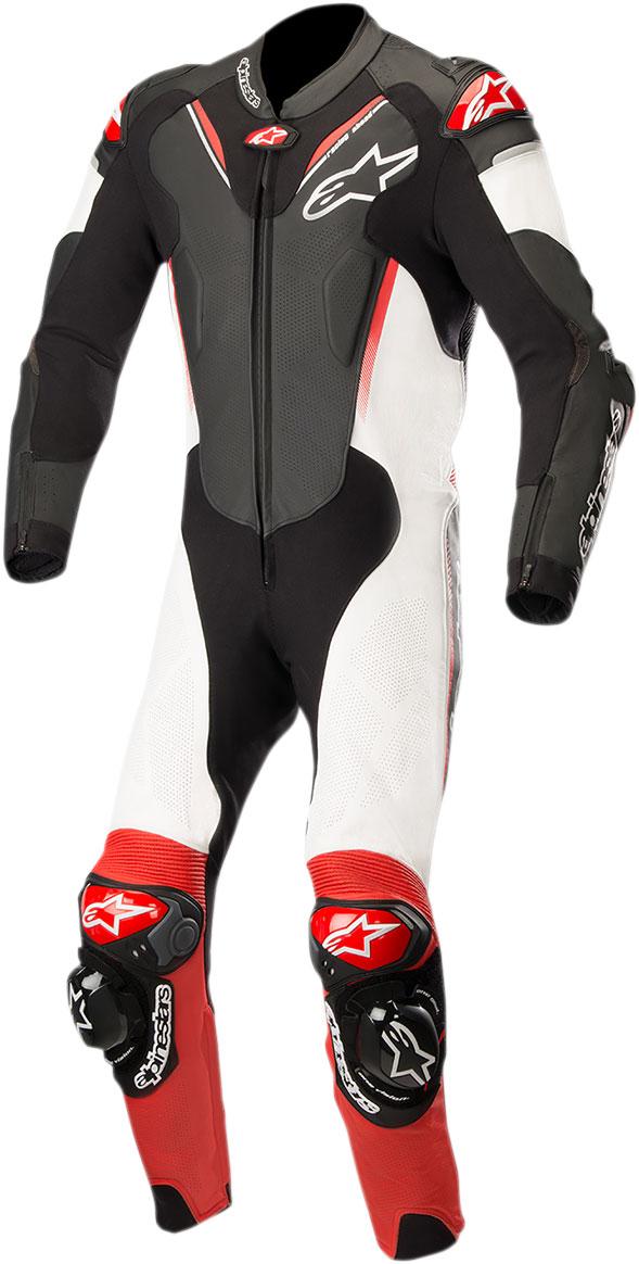 Alpinestars ATEM v3 1-Piece Leather Suit (Black/White/Red)
