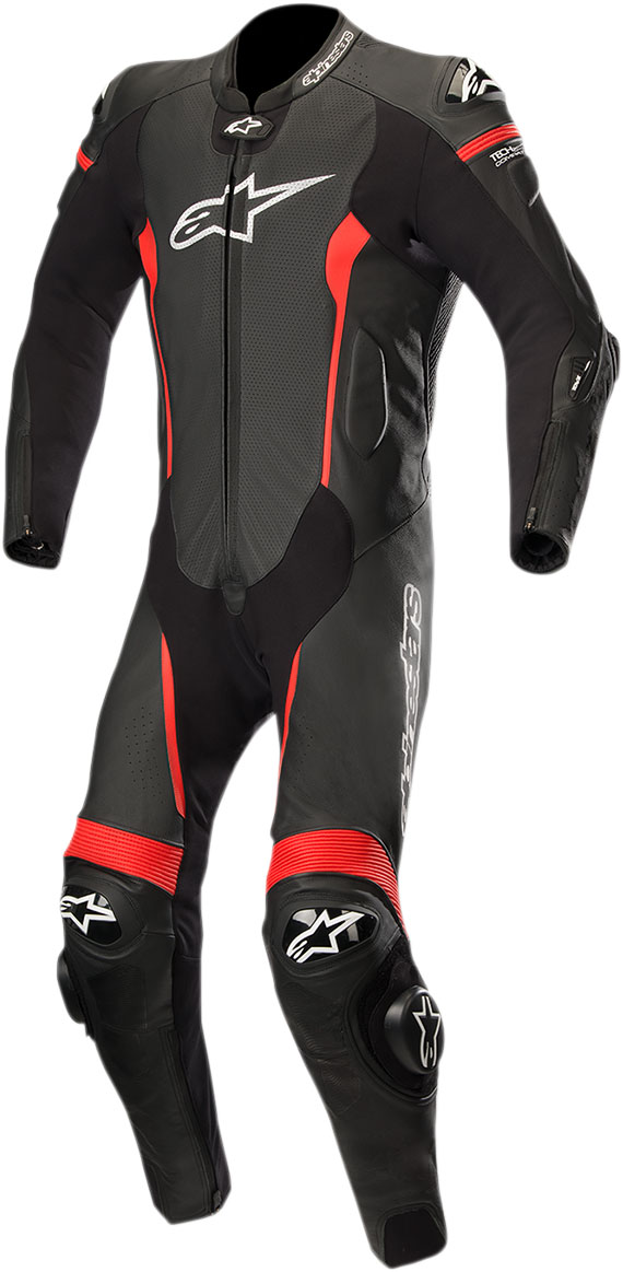 Alpinestars MISSILE Leather Suit Tech-Air Compatible (Black/Red)