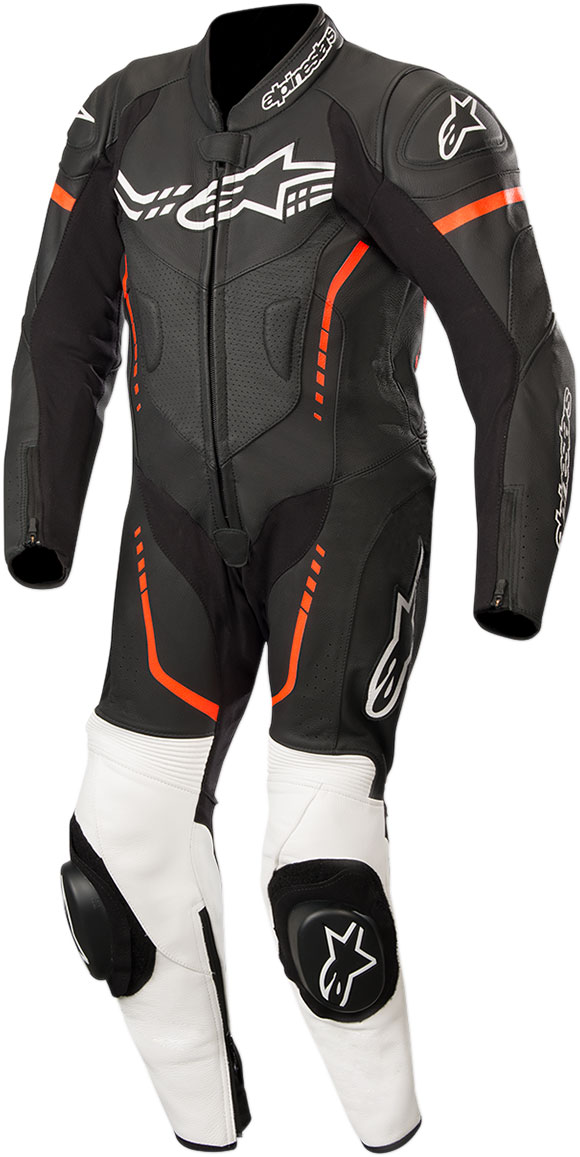 Alpinestars Youth GP PLUS CUP Leather Suit (Black/White/Fluo Red)