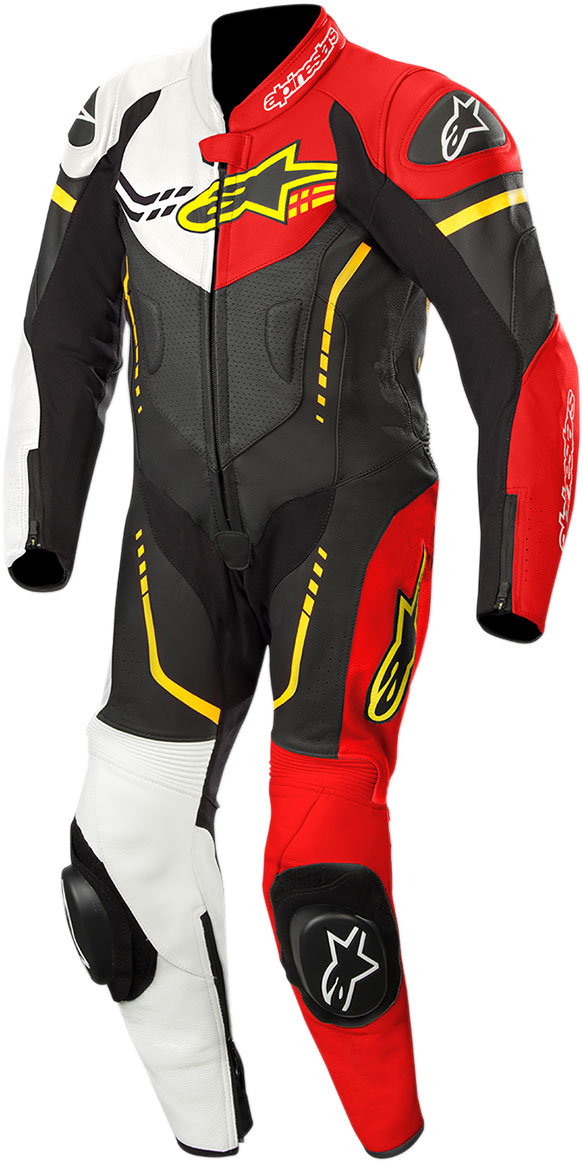 Alpinestars Youth GP PLUS CUP Leather Suit (Black/White/Flo Red/Flo Yellow)