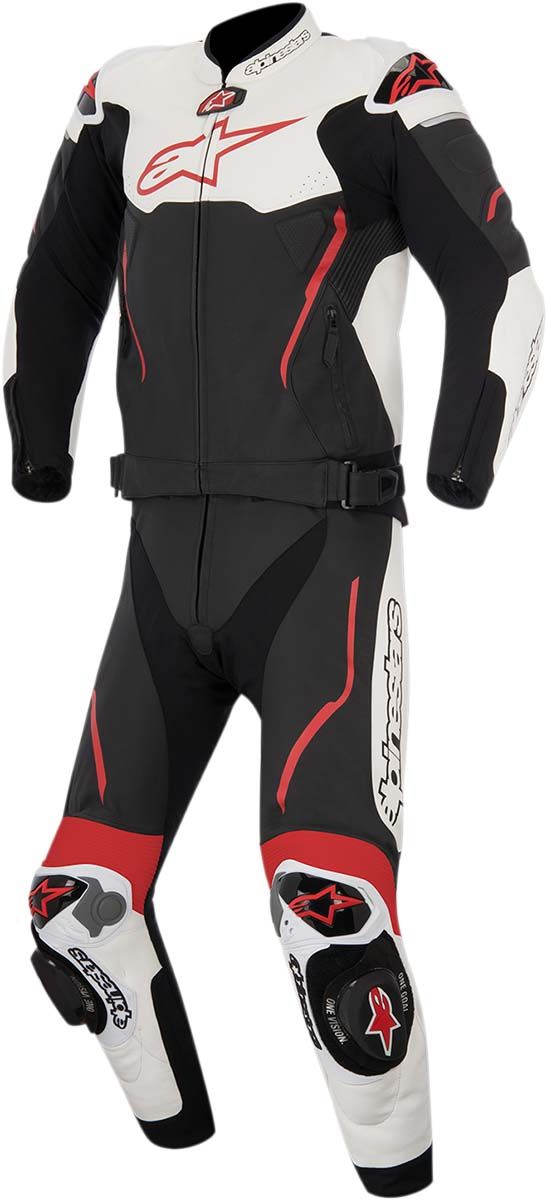 Alpinestars Atem 2PC Leather Road/Track Motorcycle Suit (Black/White/Red)