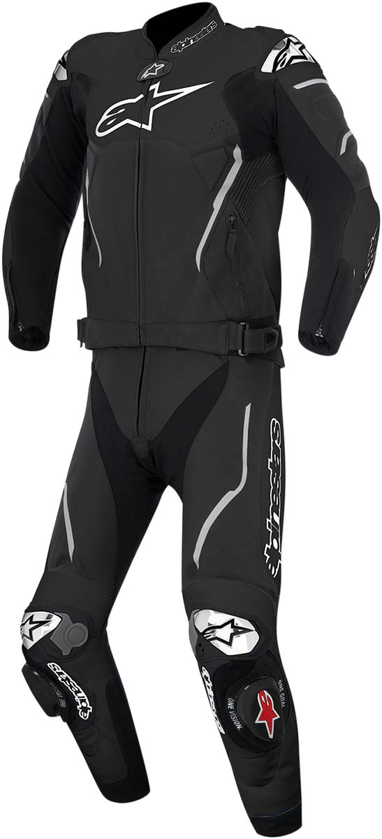 Alpinestars Atem 2PC Leather Road/Track Motorcycle Suit (Black)