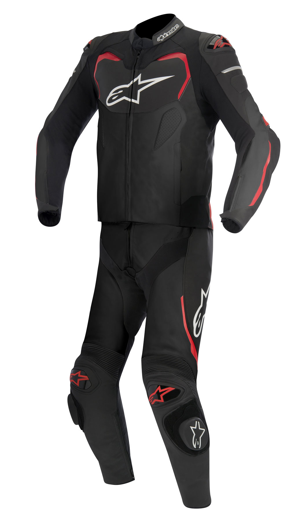 Alpinestars GP PRO 2-Piece Leather Suit (Black/Red)