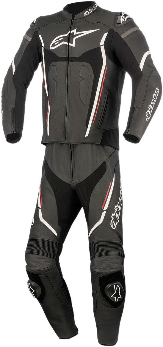 Alpinestars MOTEGI V2 2-Piece Leather Suit (Black/Red/White)