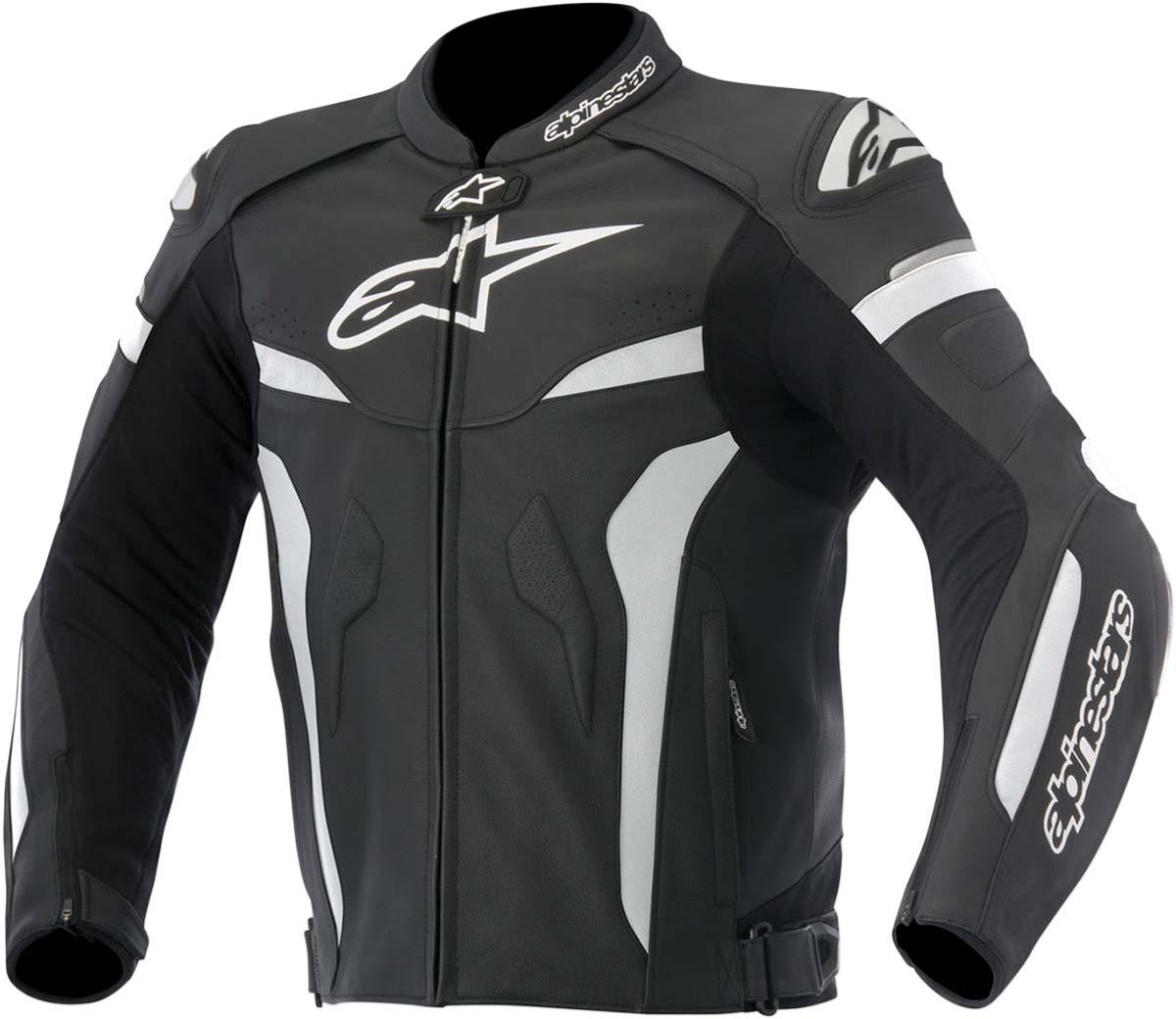 Alpinestars CELER Leather Jacket w/ Speed Hump (Black/White)