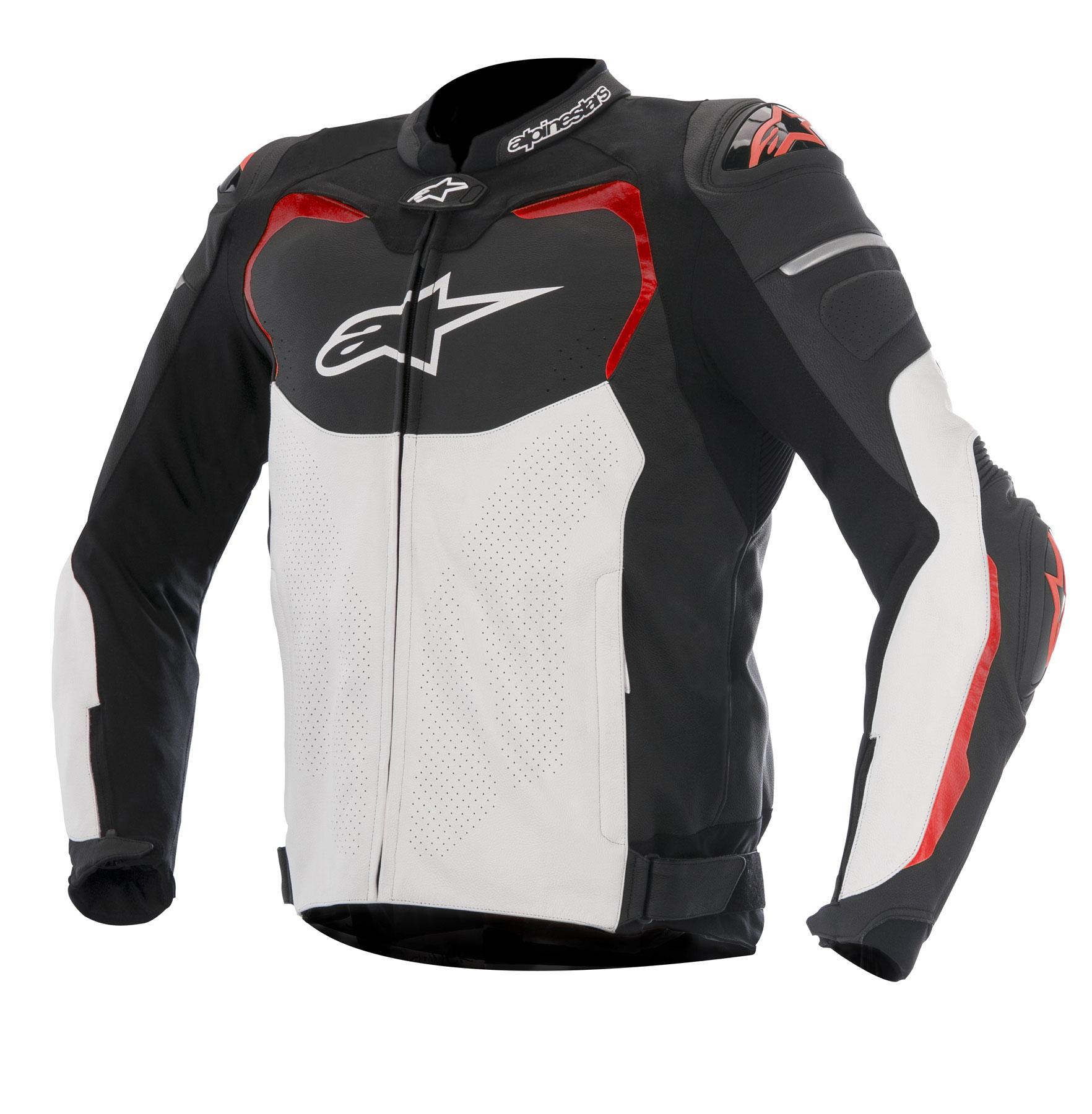 Alpinestars GP PRO AIRFLOW Leather Jacket (Black/White/Red)