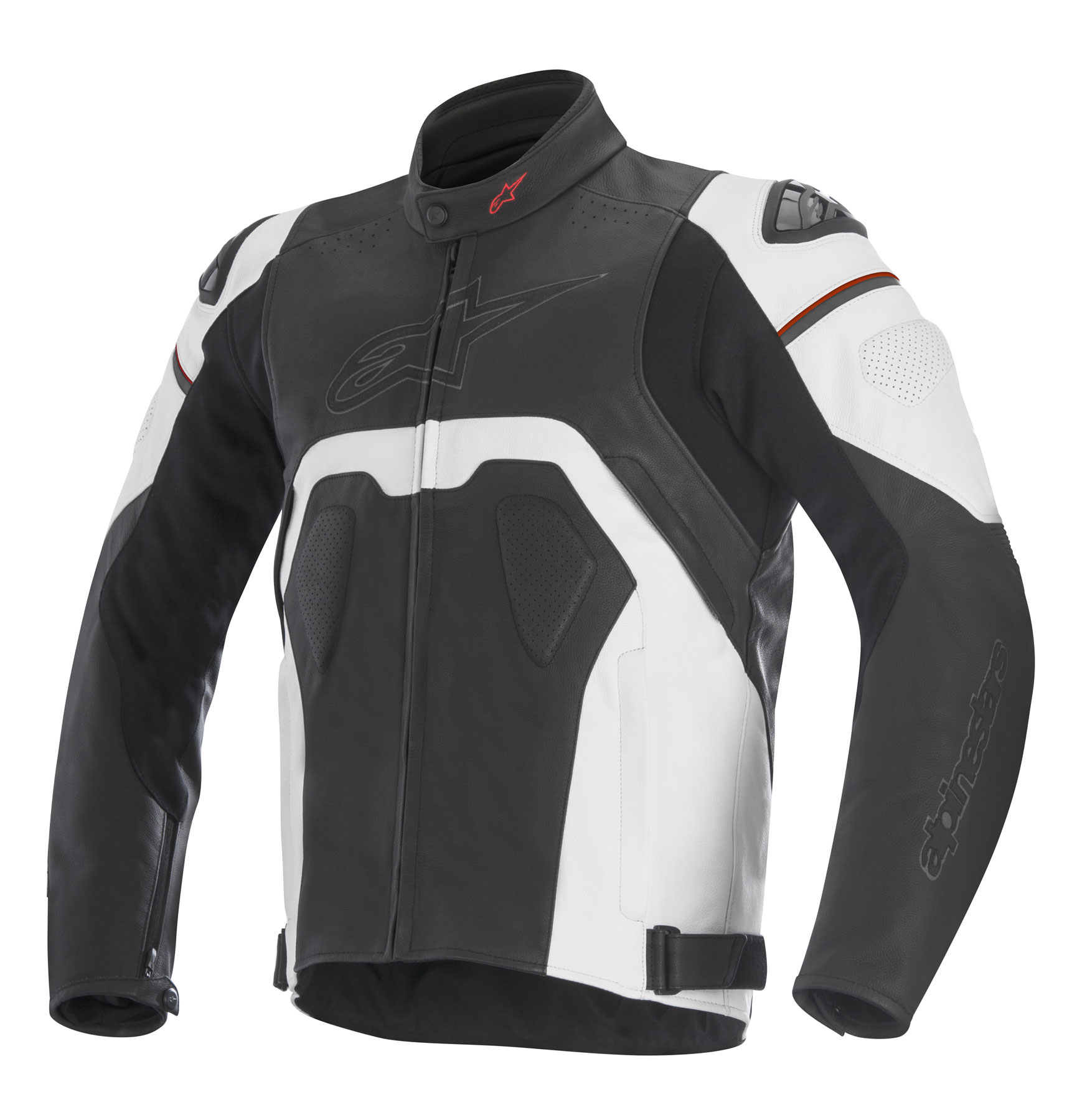 Alpinestars CORE Leather Jacket (Black/White)