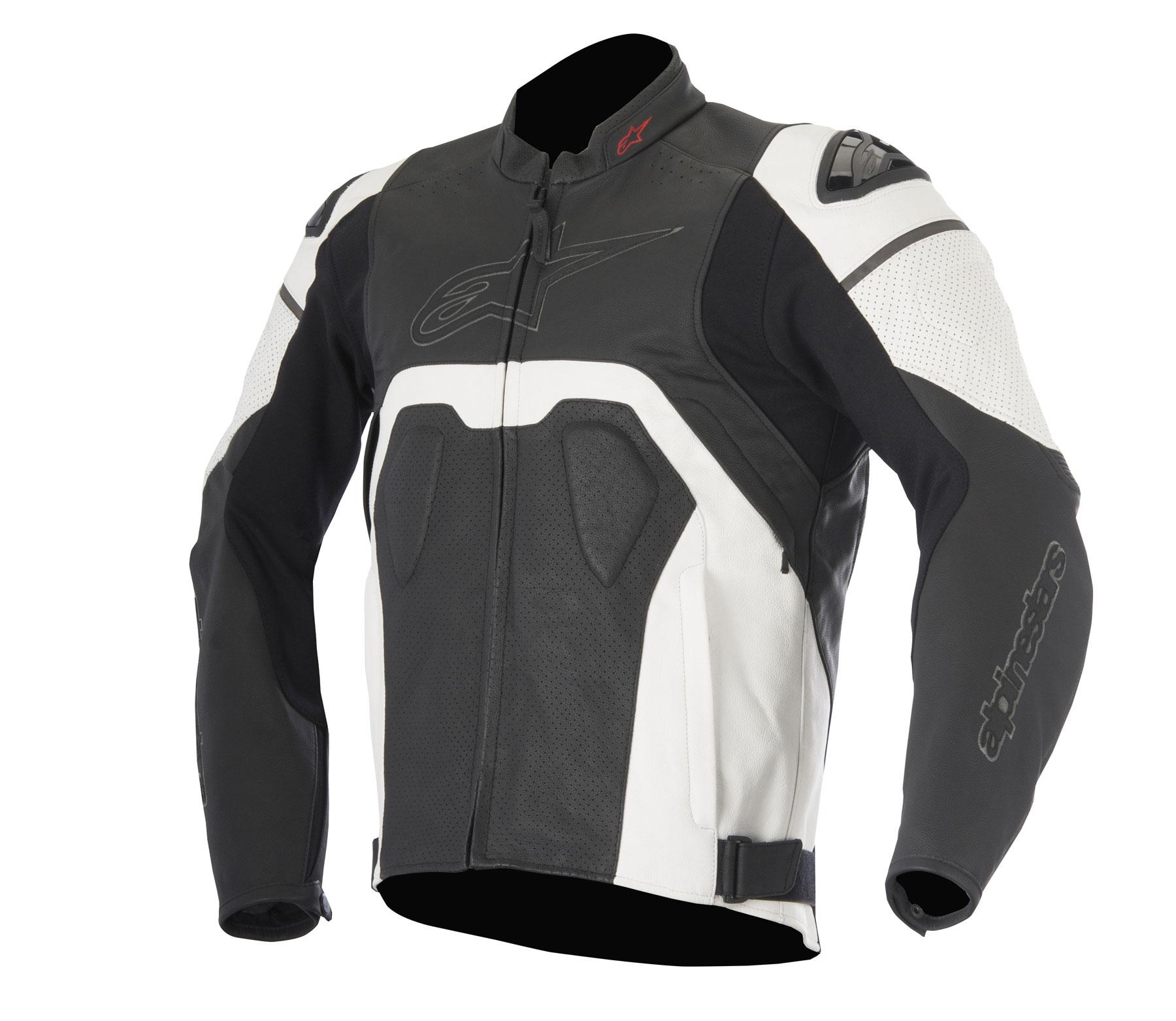 Alpinestars CORE AIRFLOW Leather Jacket (Black/White)