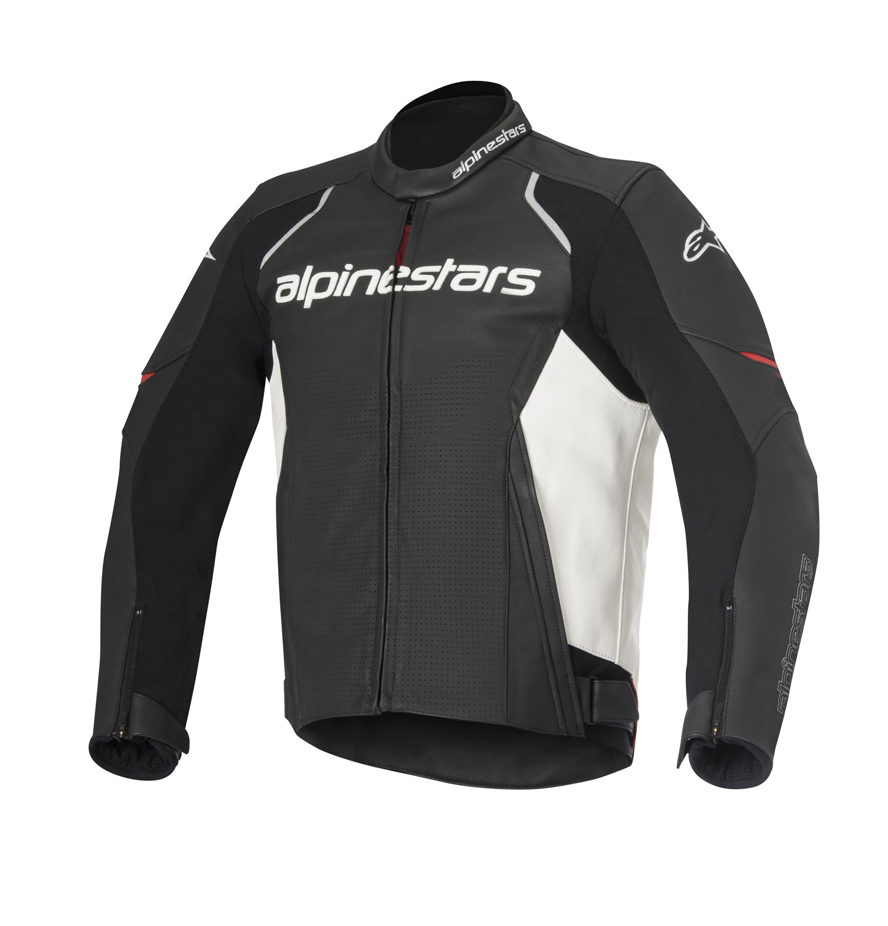 Alpinestars DEVON AIRFLOW Leather Jacket (Black/White)