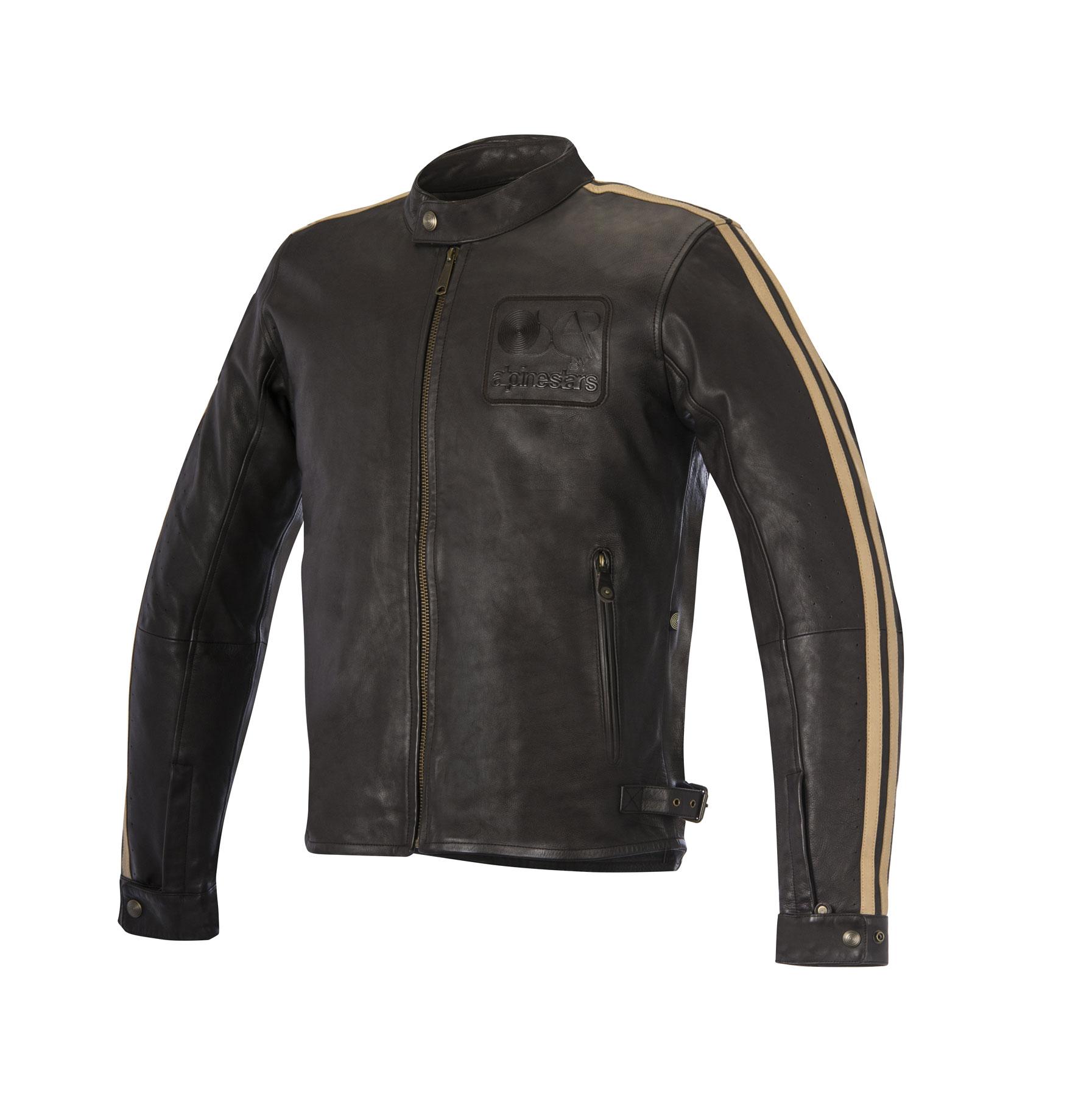 Alpinestars Oscar CHARLIE Leather Street Motorcycle Jacket (Brown)