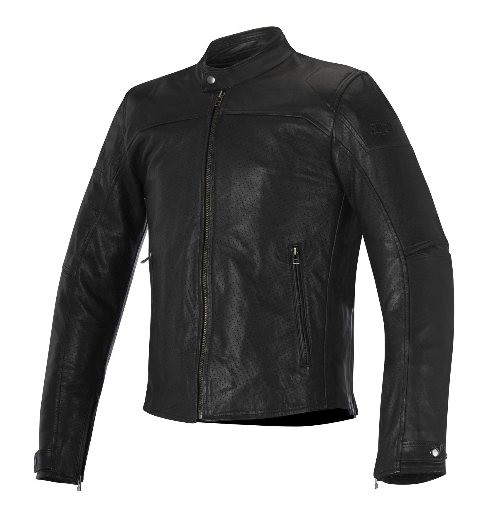 Alpinestars BRERA AIRFLOW Leather Street Motorcycle Jacket (Black)