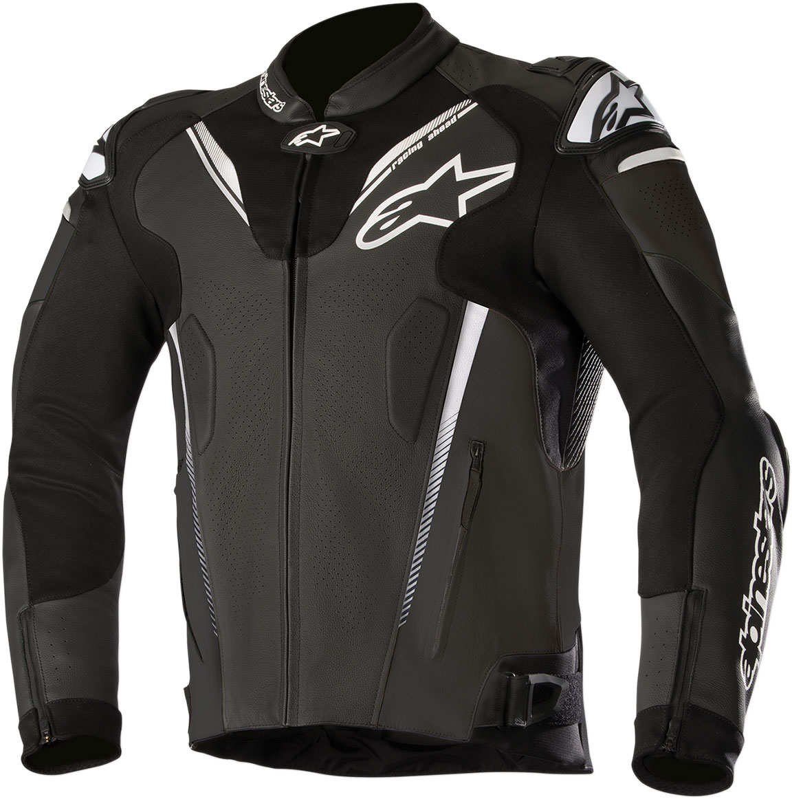Alpinestars ATEM v3 Leather Jacket w/Aero Hump (Black)