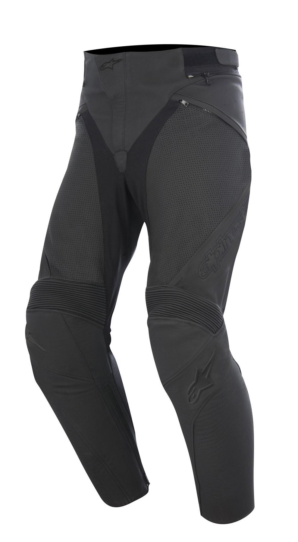 Alpinestars JAGG AIRFLOW Leather Pants (Black)
