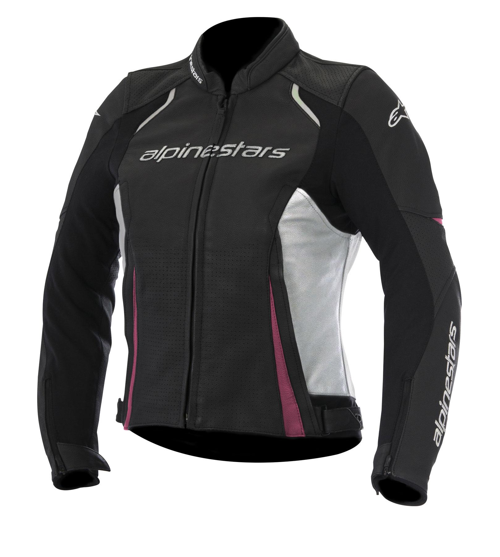 Alpinestars Stella DEVON AIRFLOW Leather Jacket (Black/White/Pink)