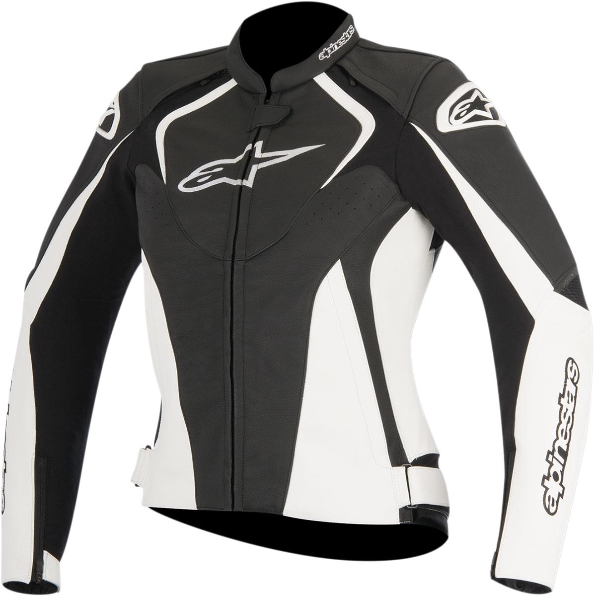 Alpinestars Stella JAWS Leather Jacket (Black/White)
