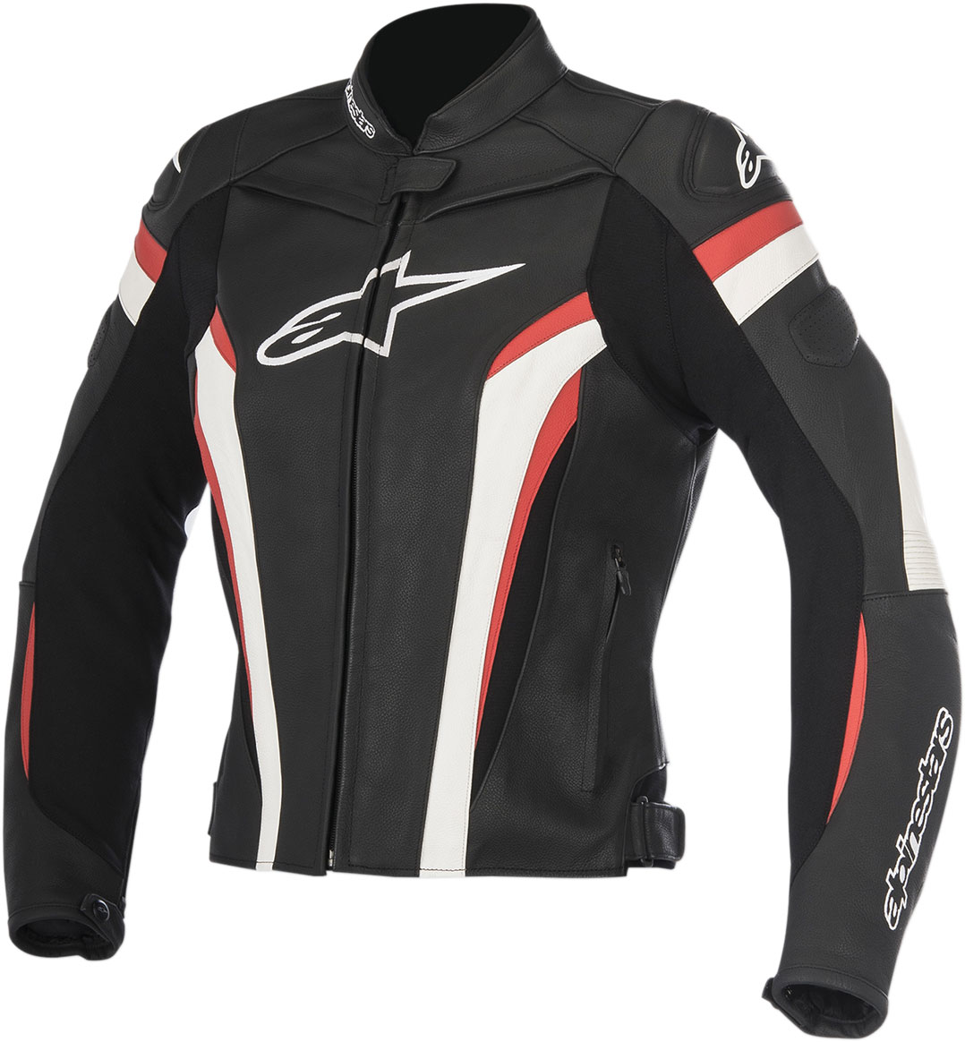 Alpinestars Stella GP PLUS R V2 Leather Jacket (Black/White/Red)