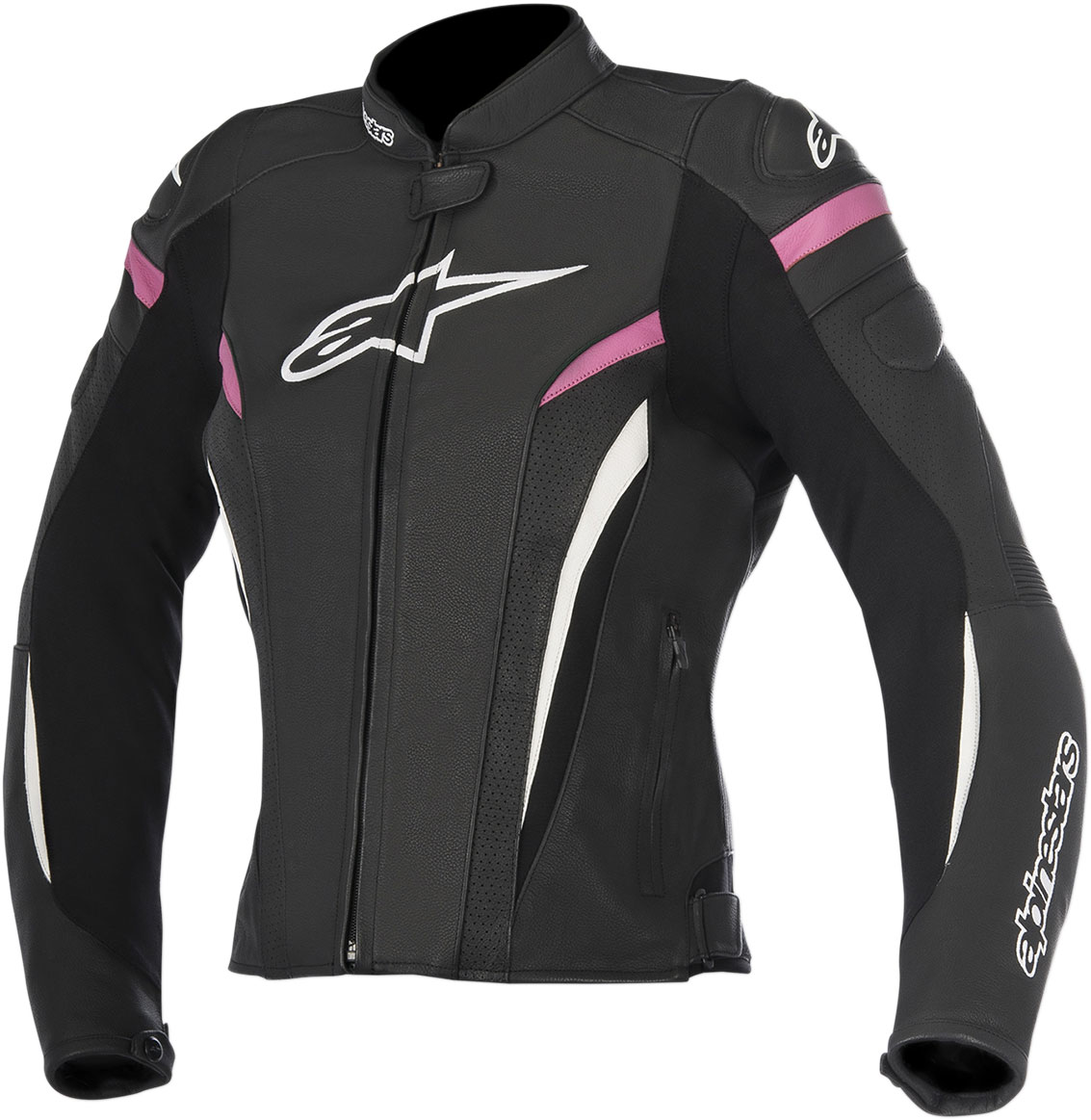 Alpinestars Stella GP PLUS R V2 Airflow Perforated Leather Jacket (Black/White/Pink)
